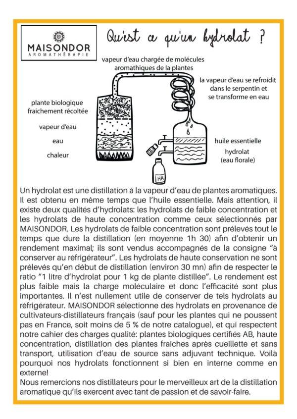 Qu'est ce qu'un hydrolat