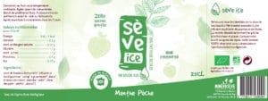 étiquette Sève Ice menthe pêche